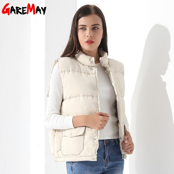 Buy Down Vest Women Outwear Female Clothing Thicken Winter Warm ...