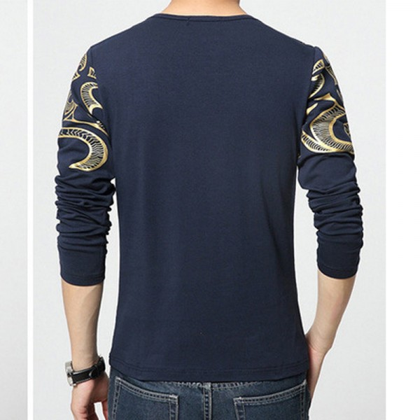 Dragon Printed T Shirts For Men High End Autumn Spring Tees Long Sleeved Plus Size T Shirts For Men Extra Image 4