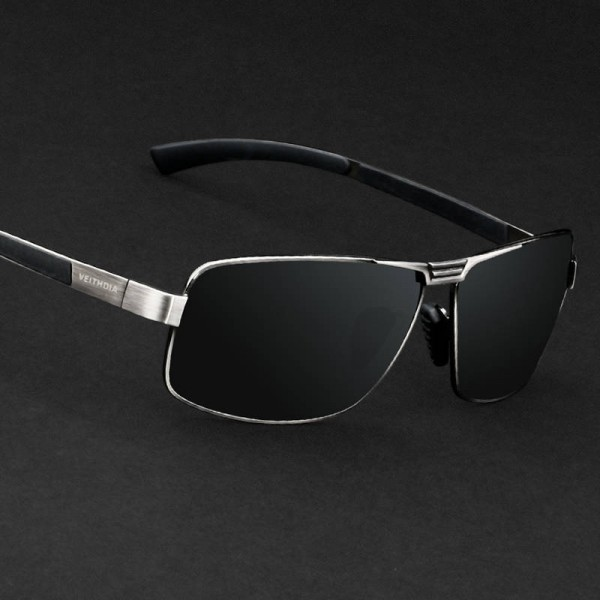 Driving Fishing Outdoor Sunglasses For Men Strong Anti Ultraviolet Rectangle Alloy Frame Eyewear For Boys Extra Image 1