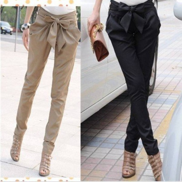 East Knitting High Waist Skinny Long Casual Summer Trousers For Women Thumbnail