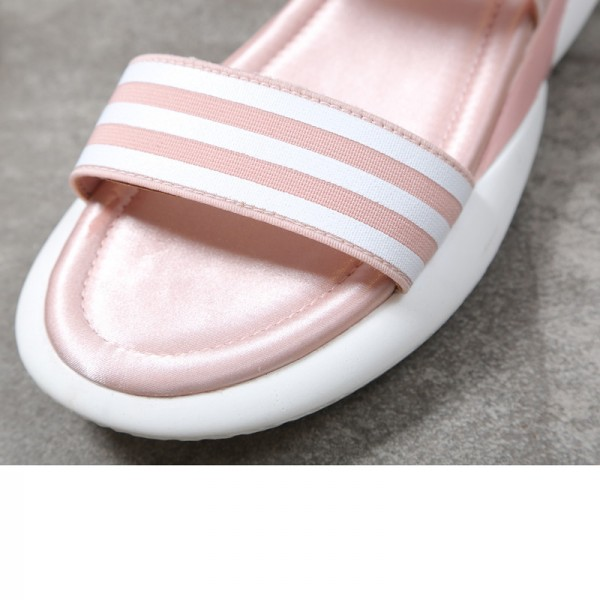 Elastic Band Summer Solid Sandals Platform Shoes Woman Creepers Flats Soft Shoes Woman Sandals Size 35 39 Extra Image 2