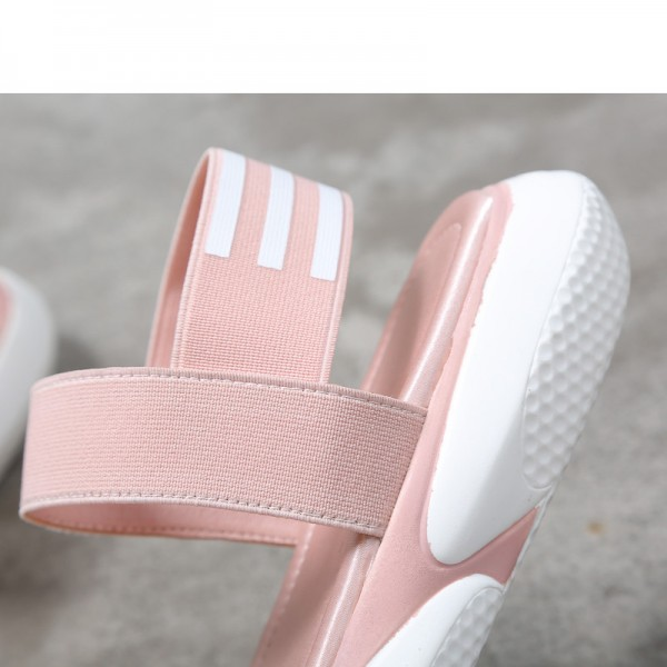 Elastic Band Summer Solid Sandals Platform Shoes Woman Creepers Flats Soft Shoes Woman Sandals Size 35 39 Extra Image 3