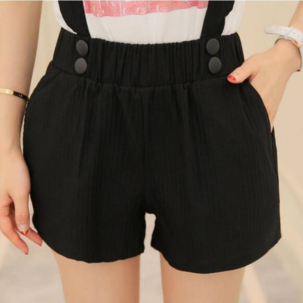 Elastic Waist Plus Size Women Shorts High Waist Summer Style New Fashion For Women Thumbnail