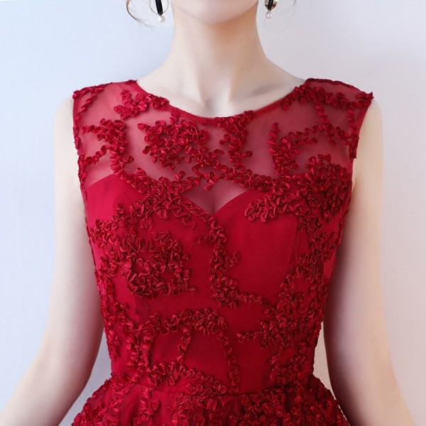 Elegant Evening Party Dresses Princess Zipper Short Front Long Back Prom Gown Cheap Plus Size Female Robe Extra Image 4