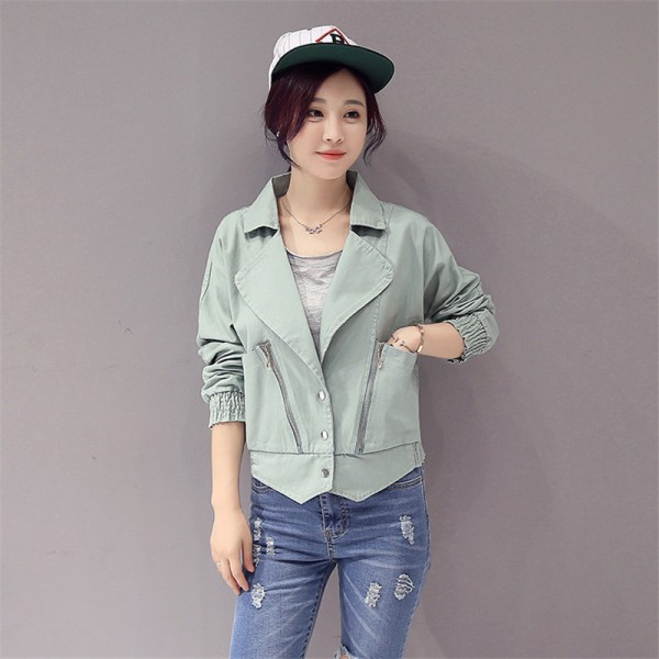 Elegant Fashion New Arrivals Pink Denim Jacket Women Spring Autumn Jacket For Women Clothing Zipper Pockets Denim Coats Extra Image 4