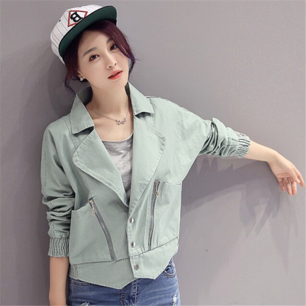 Elegant Fashion New Arrivals Pink Denim Jacket Women Spring Autumn Jacket For Women Clothing Zipper Pockets Denim Coats Extra Image 6