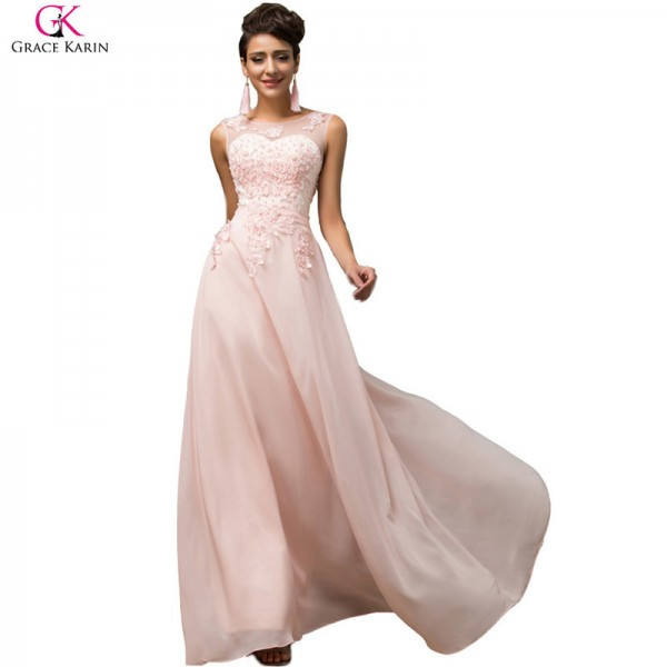 Elegant Female Formals Long A Line Vestido Chiffon Sleeveless Pink Purple Prom Dress Women Formal Dresses Extra Image 3