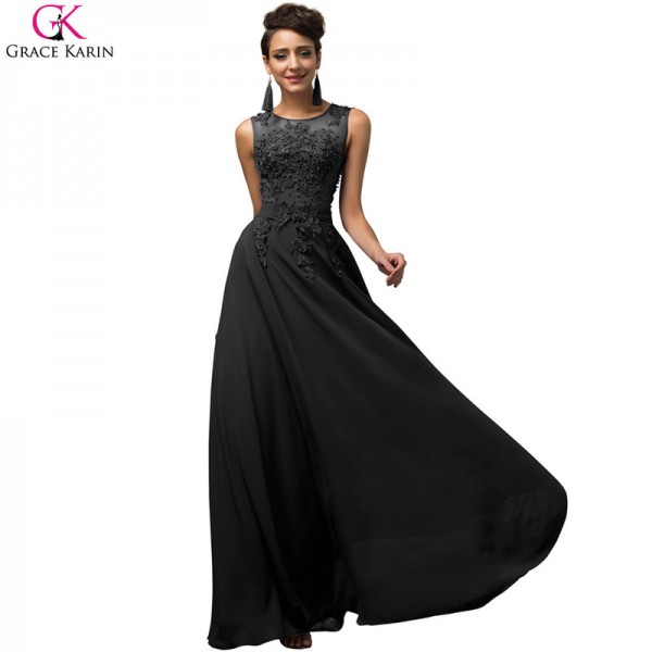 Elegant Female Formals Long A Line Vestido Chiffon Sleeveless Pink Purple Prom Dress Women Formal Dresses Extra Image 5