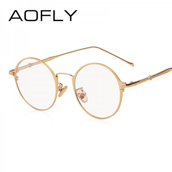 Elegant Oval Plain Eyewear Fashion Women Brand Designer Metal Frame Glasses Clear Lens Eyeglasses High Quality Extra Image 2