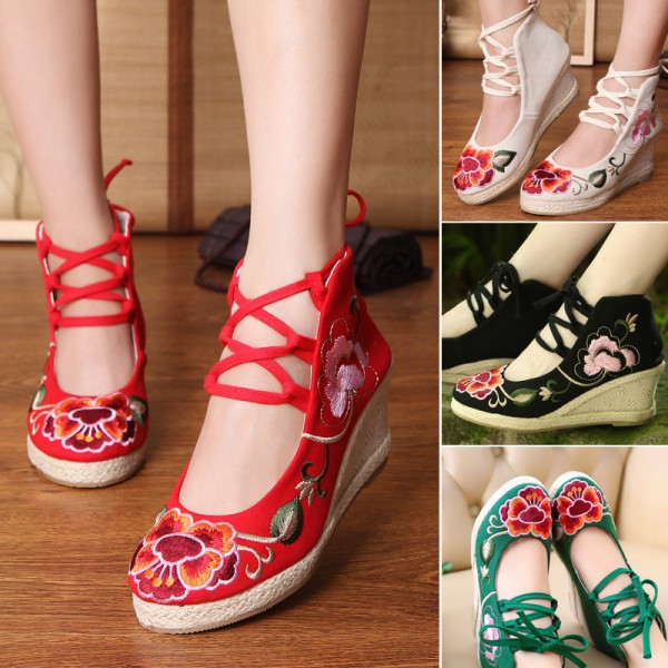 Embroidery Soft Sole Sandals For Women Chinese Style New Fashion Casual Shoes For Females Extra Image 3