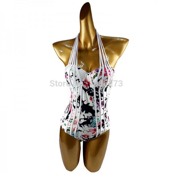 Europe America Conservative Swimwear Multi Brand Sexy Halter One Piece Swimsuits Sexy Summer Bathing Suits Extra Image 1