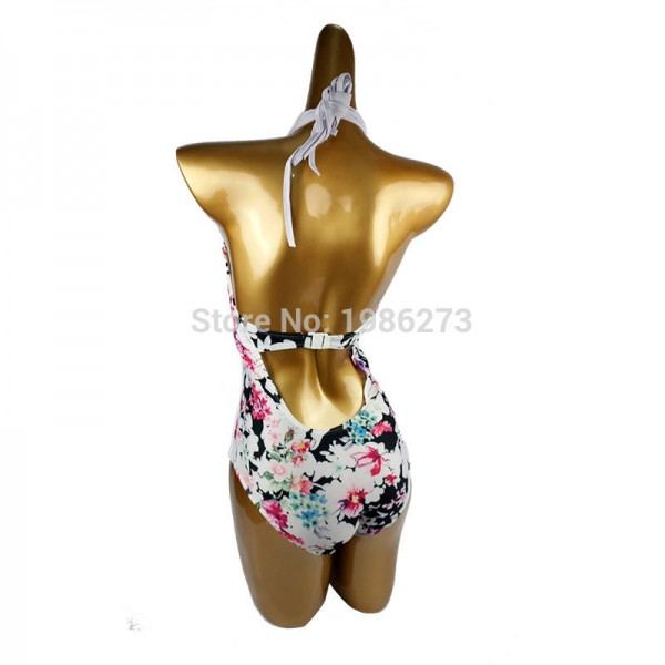 Europe America Conservative Swimwear Multi Brand Sexy Halter One Piece Swimsuits Sexy Summer Bathing Suits Extra Image 2