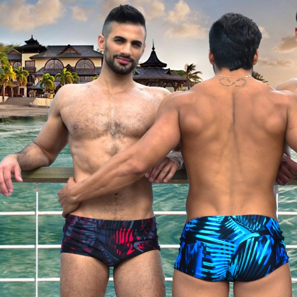 European Style Beach Trunks For Men Bikini Swimsuits Swimming Briefs Taddlee Boxer Surfing Shorts Extra Image 4