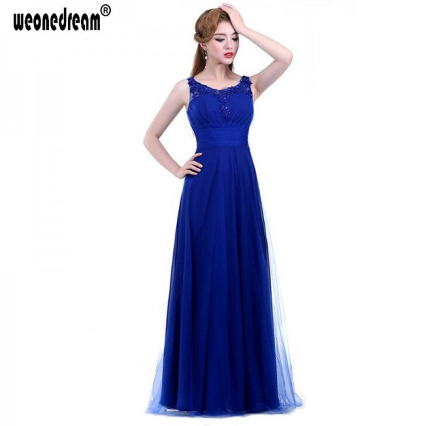 Evening Gown O Neck Floor Length Chiffon Long Evening Dress Gown New Fashion Formal Dress Tank Wedding Thumbnail