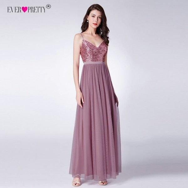Ever Pretty Long Prom Dresses Pleated A Line Floor Length Women Elegant Sleeveless Banquet Party Dress Extra Image 3