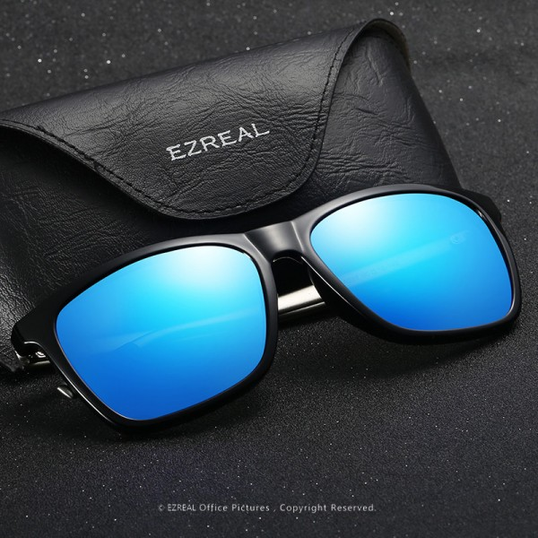 EZREAL Brand Classic Polarized Sunglasses Men Driving Square Black Frame Eyewear Male Sun Glasses For Men Women Extra Image 2
