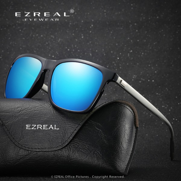 EZREAL Brand Classic Polarized Sunglasses Men Driving Square Black Frame Eyewear Male Sun Glasses For Men Women Extra Image 3