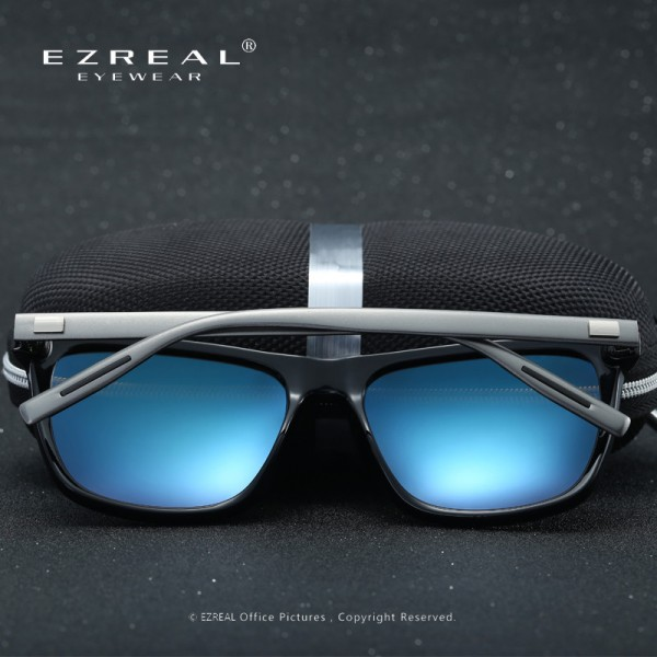 EZREAL Brand Classic Polarized Sunglasses Men Driving Square Black Frame Eyewear Male Sun Glasses For Men Women Extra Image 5