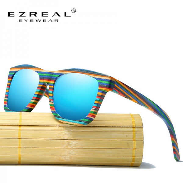 EZREAL Polarized Wooden Sunglasses Men Bamboo Sun Glasses Women Brand Designer Original Wood Glasses Oculos de sol
