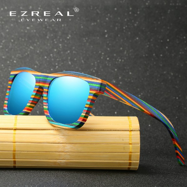 EZREAL Polarized Wooden Sunglasses Men Bamboo Sun Glasses Women Brand Designer Original Wood Glasses Oculos de sol Extra Image 3