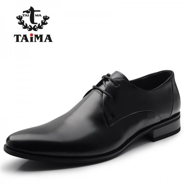 Fashion Genuine Leather Dress Shoe Luxury Business Office Wear Men Thumbnail