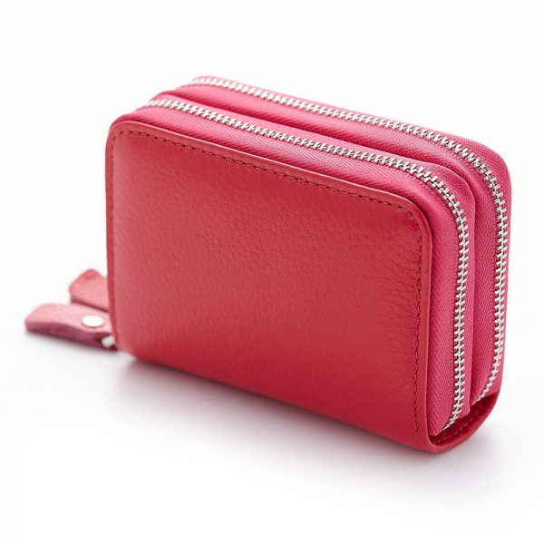 Fashion genuine leather women cardholder wallet high capacity credit rose rose colourmoves