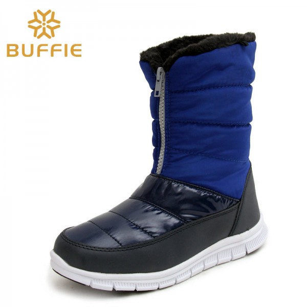 Fashion Ladies Boots Warm Autumn Winter Shoes Fur Lining Royal Blue Boots Female High Quality Shoes Extra Image 3