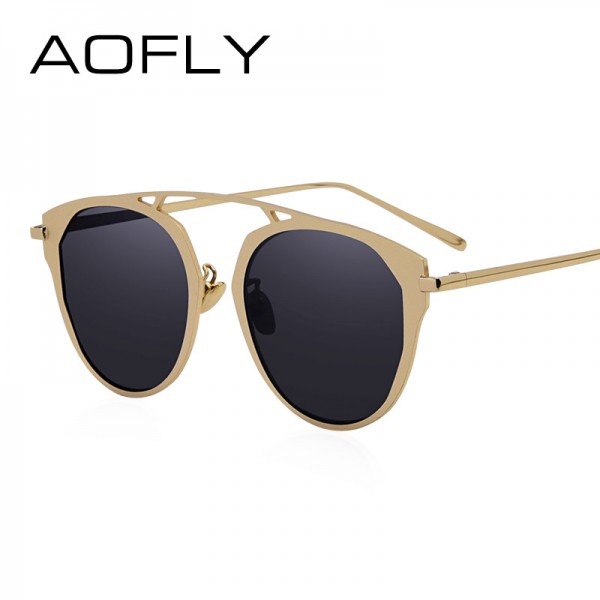Fashion Lady Cat Eye Sunglasses Brand Designer Metal Frame Sun Glasses Women Coating Mirror Shades Oculos Lunette Extra Image 1