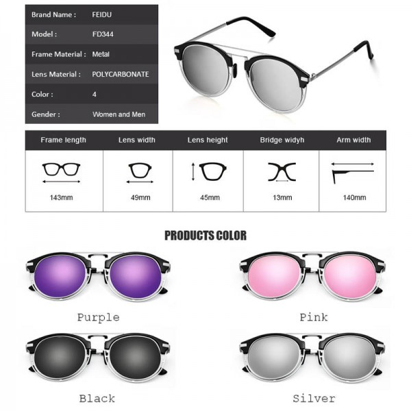 Fashion Luxury Polarized Sunglasses For Women Round UV400 Polarized Driving Outdoor Sun Shades Extra Image 3