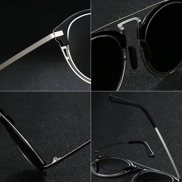 Fashion Luxury Polarized Sunglasses For Women Round UV400 Polarized Driving Outdoor Sun Shades Extra Image 4