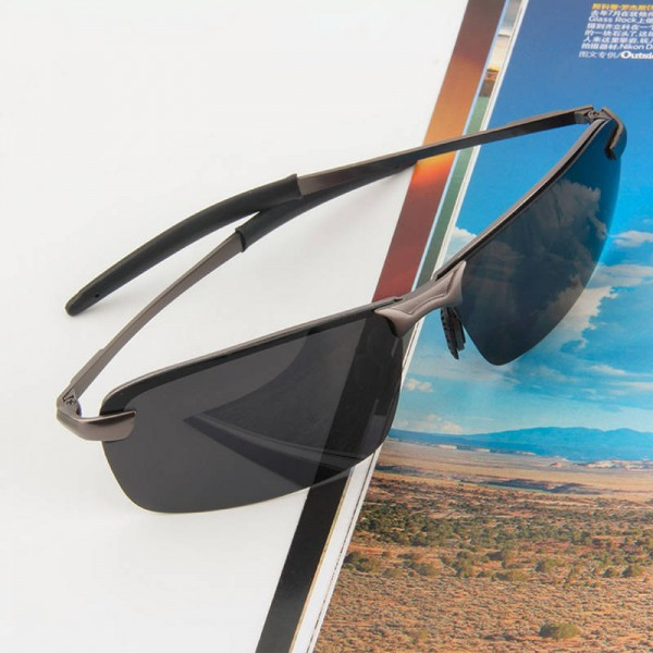 Fashion Men Polarized Sunglasses For Men Fishing Driving Outdoor Alloy Frame Polarized Rectangular Shades