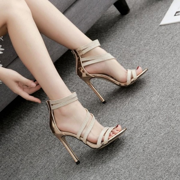 Fashion Party Sandals For Women High Heel Sexy Wedding Festive Sandals Summer Style Rhinestone Shoes Extra Image 5