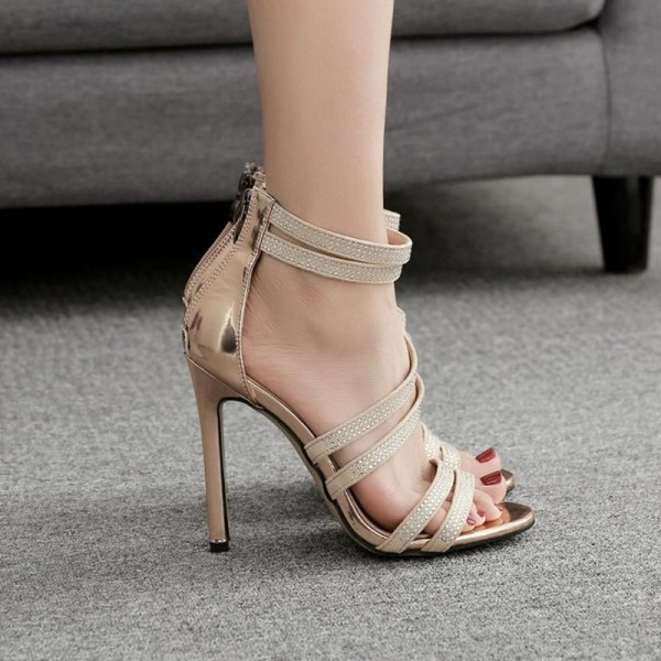 Fashion Party Sandals For Women High Heel Sexy Wedding Festive Sandals Summer Style Rhinestone Shoes Extra Image 6