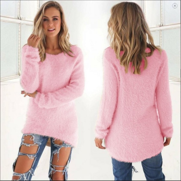 Fashion Sexy Ladies Sweater Coat Long Sleeve Soft Smooth Warm Winter Flat Knitted Casual Cardigan Extra Image 1