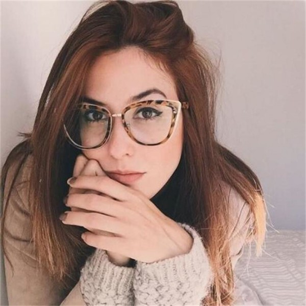 Fashion Spectacles Transparent Frame Glasses Brand Designer Cat Eye Glasses Clear Lens Classic Eyeglasses Frames Extra Image 2