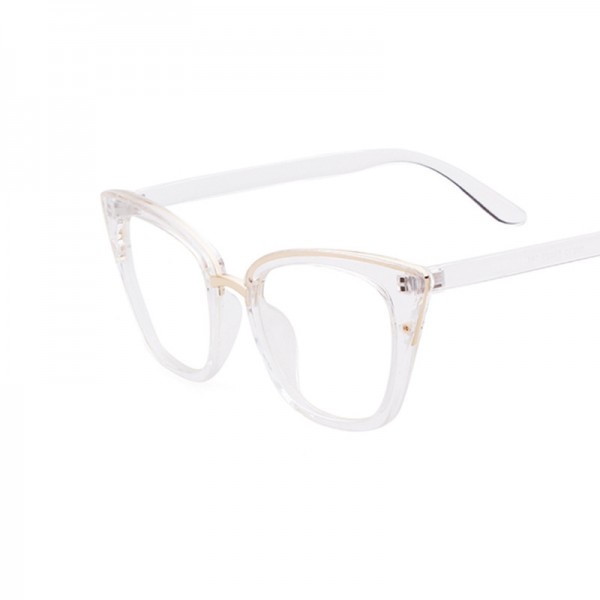 Fashion Spectacles Transparent Frame Glasses Brand Designer Cat Eye Glasses Clear Lens Classic Eyeglasses Frames Extra Image 5