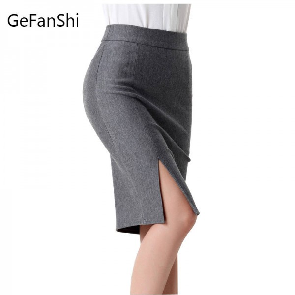 6d9e71258 Fashion Spring Autumn New Women Skirt High Waist Slim Pencil Skirt Open  Front Women Thumbnail ...
