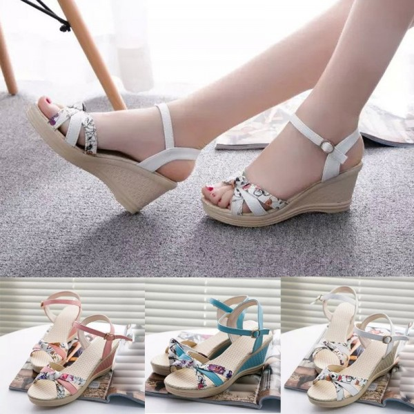 Fashion Summer Flat Shoes Women Sandals PU leather Flip Flops Women Buckle Strap Casual Flat Sandals Extra Image 4