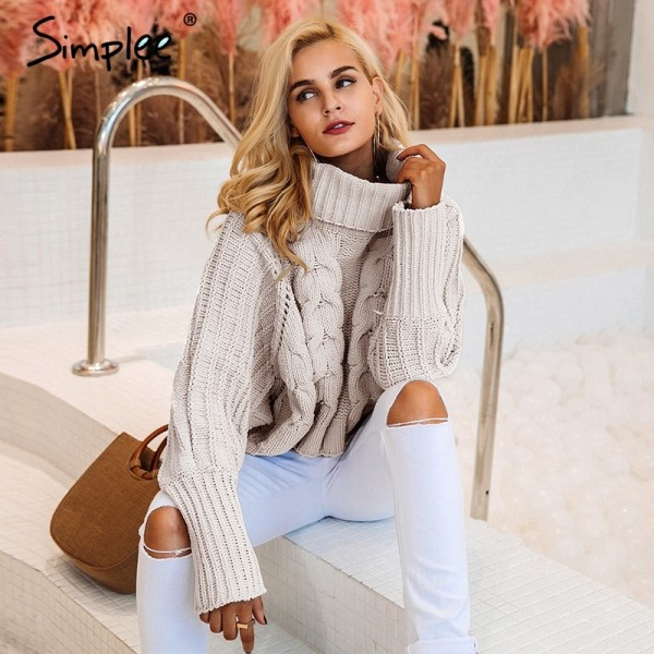 Fashion Turtleneck knitted pullover sweater Women hollow out soft jumper pull femme Autumn winter warm knitting sweater Extra Image 2
