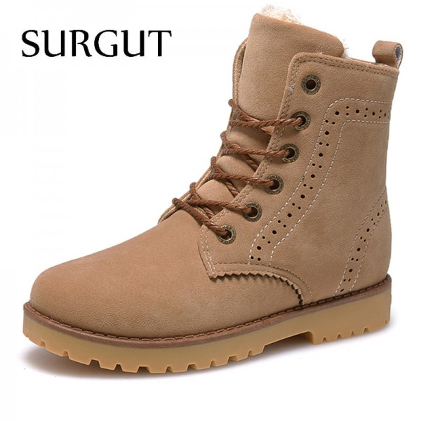 Fashion Winter Shoes For Men Suede Pu Leather Snow Men Boots High Quality Comfy Casual Shoes Men Plus Size Extra Image 1