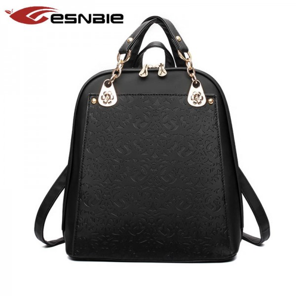 Fashion Women Backpack New Leather Youth Backpacks For Teenage Girls School Bags For Girls Thumbnail