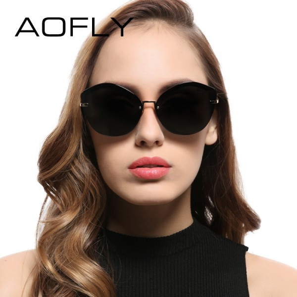 Fashion Women Cat Eye Sunglasses Original Brand Design Sun Glasses Female Ultralight Glasses Mirror Lens UV400