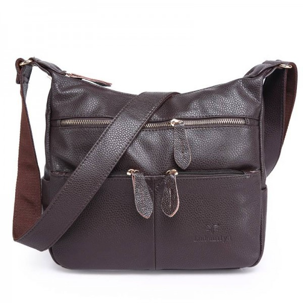 Fashion Women Messenger Bags Composite Genuine Leather Women Handbags Vintage Shoulder Bags Women Thumbnail