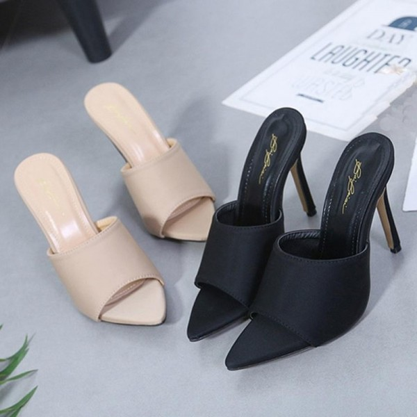 Fashion Women Sandals Summer Shoes Party High Heel Pointed Toe Slippers 2019 Party Heels For Ladies Extra Image 4