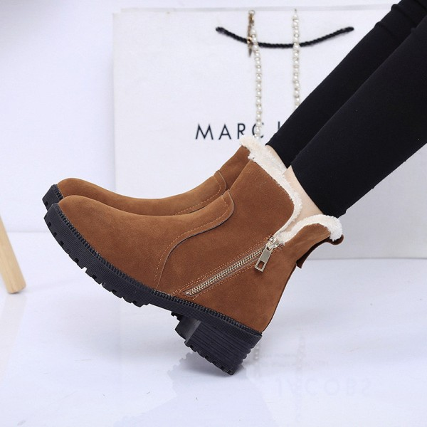 Fashion Women Winter Boots Female Snow Plush Ankle Boots Flock Zip Warm Zipper Boots Zapatos Mujer Botas Extra Image 2