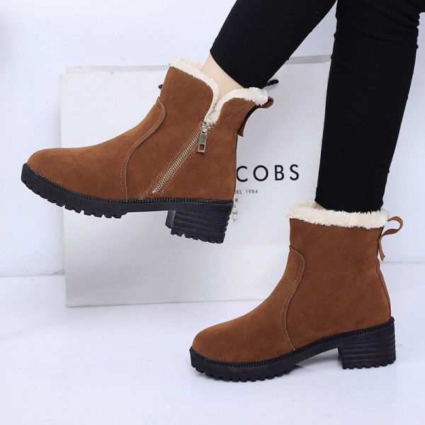 Fashion Women Winter Boots Female Snow Plush Ankle Boots Flock Zip Warm Zipper Boots Zapatos Mujer Botas Extra Image 4