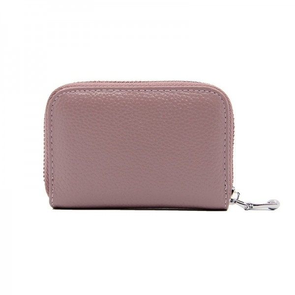 Fashion Womens Short Zipper Purse Wallet Genuine Leather Wallet Credit Card Holder Wallet For Women Extra Image 3