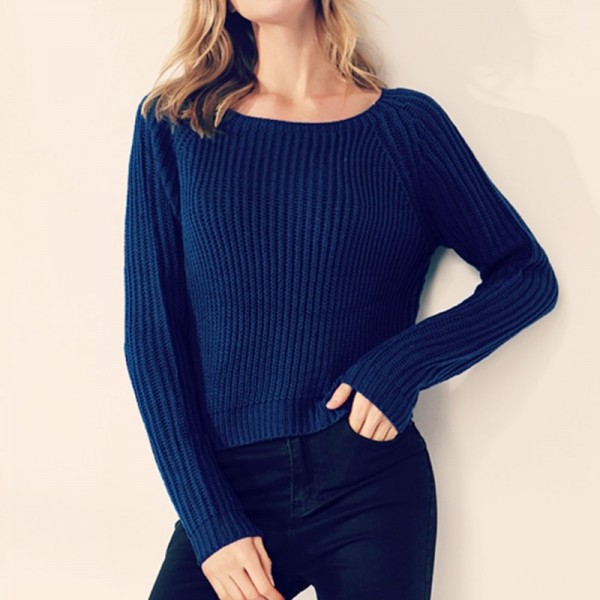 Fashion yellow sweaters for women autumn winter knitted jumper sueter mujer side slit ladies sweater pull clothes Extra Image 4