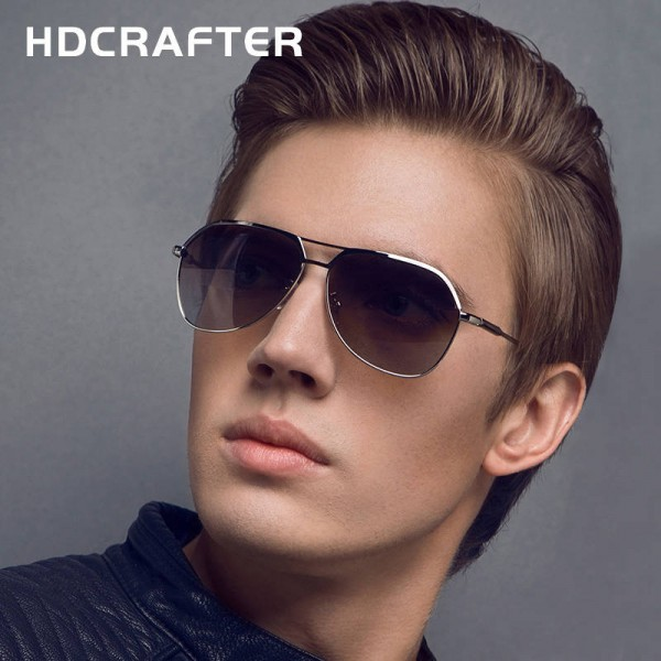 Fashionable Metal Sunglasses HD Crafter Men Reflective Square Polarized UV400 Eyewear Alloy Frame Shades Extra Image 1
