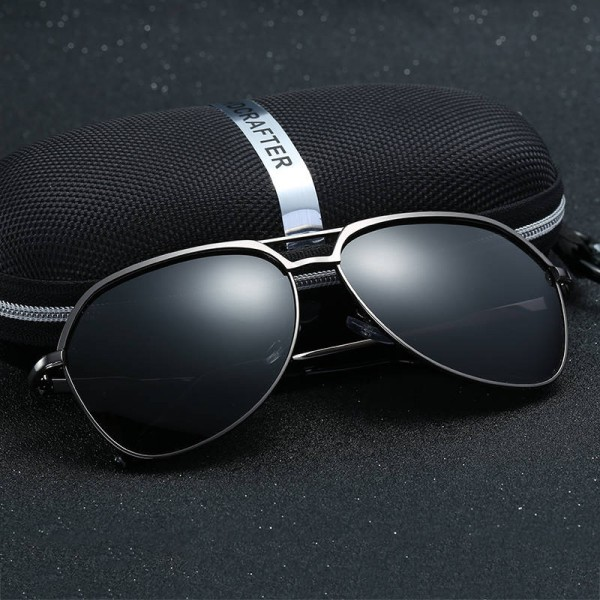 Fashionable Metal Sunglasses HD Crafter Men Reflective Square Polarized UV400 Eyewear Alloy Frame Shades Extra Image 3